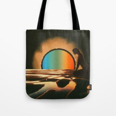 Sunset meditate Tote Bag