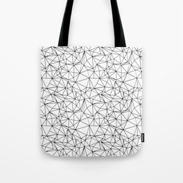 Mosaic Triangles Repeat Seamless Pattern Black and White Tote Bag
