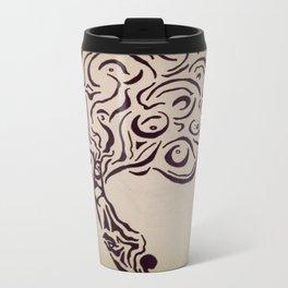 Ink Doodle Eyeball Tree Travel Mug