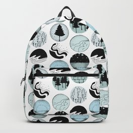 Modern Abstract Woodland Trees Design Backpack