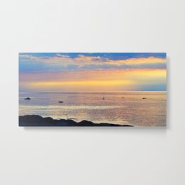Sparkling Sunset Seascape Metal Print