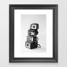 Camera Stack Framed Art Print