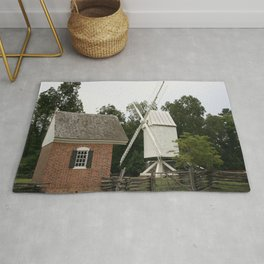 White Windmill - Colonial Williamsburg Rug