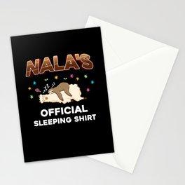 Nala Name Gift Sleeping Shirt Sleep Napping Stationery Cards