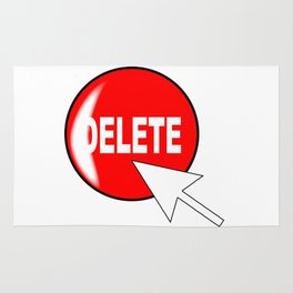 Computer Icon Delete Rug