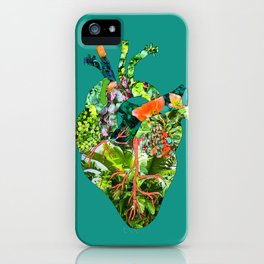 Botanical Heart Green iPhone Case