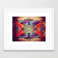 mandala Framed Art Prints featuring Mandala by Aaron Carberry