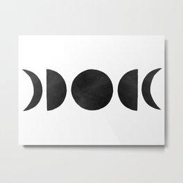 minimalist moon phases Metal Print