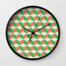 Christmas Escher Print Wall Clock