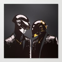 daft punk Canvas Prints featuring DAFT PUNK by Gregory Casares