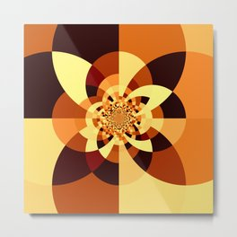 Orange Brown Kaliedoscope Metal Print