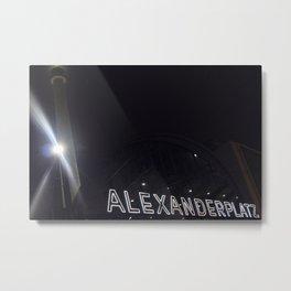 Berlin Banhof Alexanderplatz Station Metal Print