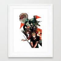 the mortal instruments Framed Art Prints featuring The Mortal Instruments by The Radioactive Peach