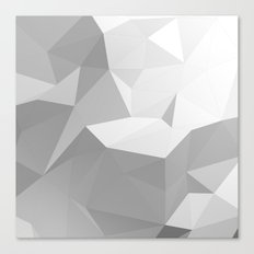 Low poly background.3D Rendering Canvas Print