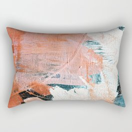 Interrupt [2]: a pretty minimal abstract acrylic piece in pink white and blue by Alyssa Hamilton Art Rectangular Pillow