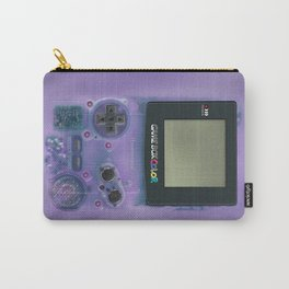 Classic retro transparent purple game watch iPhone 4 5 6 7 8, tshirt, mugs and pillow case Carry-All Pouch