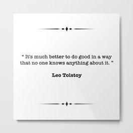 Leo Tolstoy Quote Metal Print