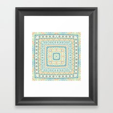 Square pattern  Framed Art Print