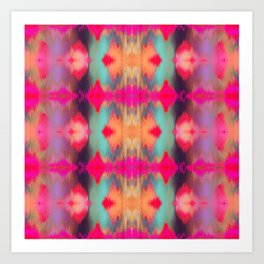 Watercolor Ikat Art Print