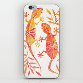 Geckos – Fire Palette iPhone Skin