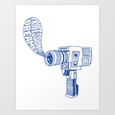 Professional Dreamer (Blue) Art Print