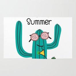 Fun Cactus And Pineapple Rug