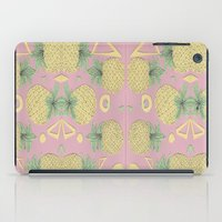 pineapples iPad Cases featuring Pineapples by homotrippin