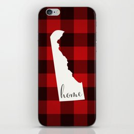 Delaware is Home - Buffalo Check Plaid iPhone Skin