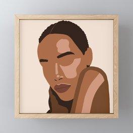 Black woman art, Black Woman Illustration, Female Portrait Print, Modern art, Black Girl Wall Art,African woman Art,African american Framed Mini Art Print