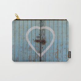 Rustic Blue Heart Carry-All Pouch