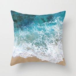 Ocean Waves I Throw Pillow