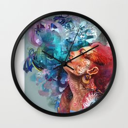 Looking into the sky Wall Clock