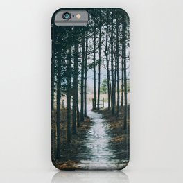 At the end of the woods iPhone Case