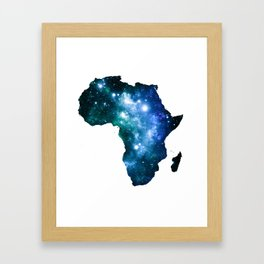Africa Universe Blue Green Framed Art Print