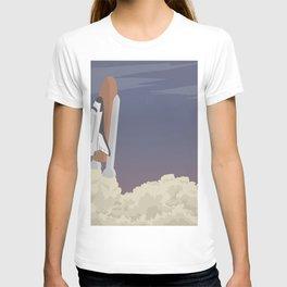 blast off launch pad Shuttle flies into space T-shirt