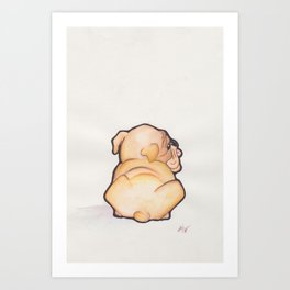 Puppy Butt | Watercolor Illustration Art Print