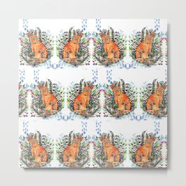 Tatoo fox Metal Print