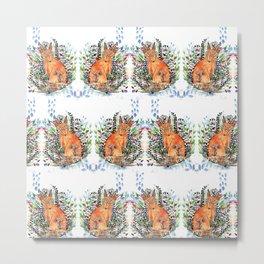 Tatoo fox Metal Print