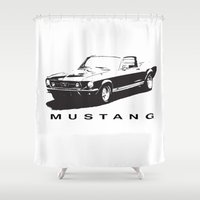 mustang Shower Curtains featuring Mustang Design by kartalpaf