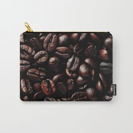 Dark Roasted Coffee Beans Carry-All Pouch