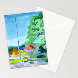 Landscape in Nida,Lithuania Stationery Cards
