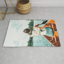 Row Your Own Boat #illustration #decor #painting Rug