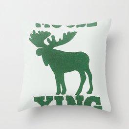 Moose Xing Throw Pillow