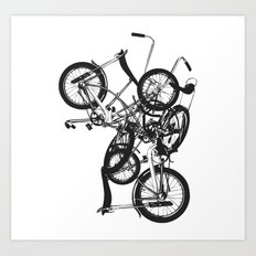 Bike Chaos Art Print
