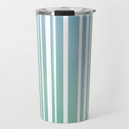 Chalky Pale ocean green stripes Travel Mug