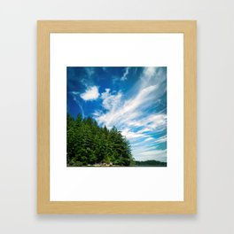 Long Island, Washington Sky Framed Art Print