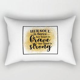 Her Soul Is Fierce Rectangular Pillow