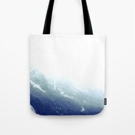 Snowy gradient Tote Bag
