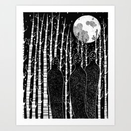 The People in the Forest Art Print