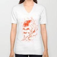 vader V-neck T-shirts featuring VADER by nicebleed
